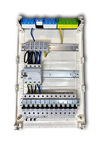 Hager Verteilung Unterverteilung Sicherungskasten aufputz unterputz hohlwand 2 und 3 Reihig komplett vor verdrahtet (3 Reihig verdrahtet aufputz)