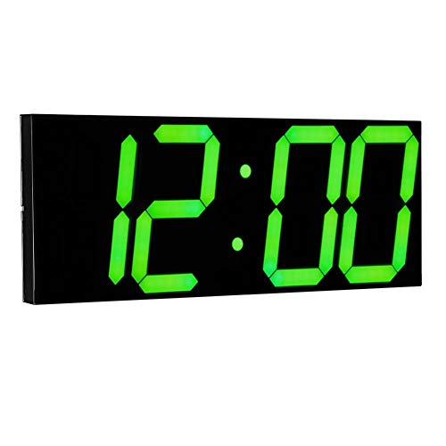 Family Needs Distant Controle LED digitale wandklok for School Menage Decor treinstation Ondersteuning Countdown Timer en Stopwatch (Color : Green)