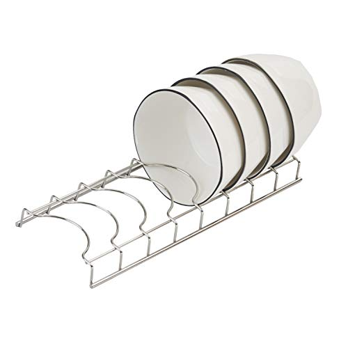 Oakart Sink Dish Drainer Rack for Kitchen Countertop Cupboard Stainless Steel Compact Bowls Plates Rack
