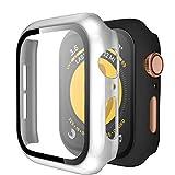 Upeak Compatible con Apple Watch Series SE/6/5/4 44mm Funda con Vidrio Templado, 2 Piezas Caja...