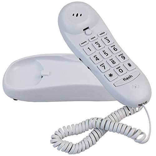 Slimline Phone for Wall Or Desk with Memory