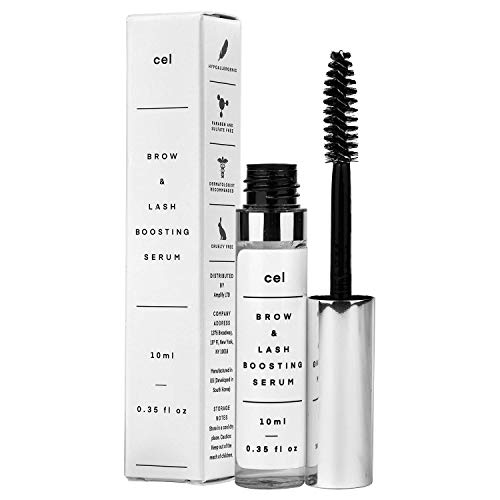 Cel Brow and Lash Boosting Serum Mascara | Follicle Stimulation Eyelash Serum, for Rapid Fullness and Eyebrow Enhancement | Stem Cell Technology - Panax Ginseng, Biotin and Castor Oil