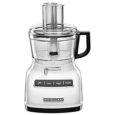 KitchenAid KFP0722WH 7-Cup Food Processor with Exact Slice System - White