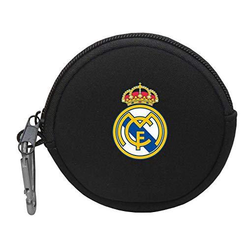 Real Madrid Redondo Neopreno Monedero Tiempo Libre y Sportwear, Adultos Unisex, Multicolor (Multicolor), Talla Única