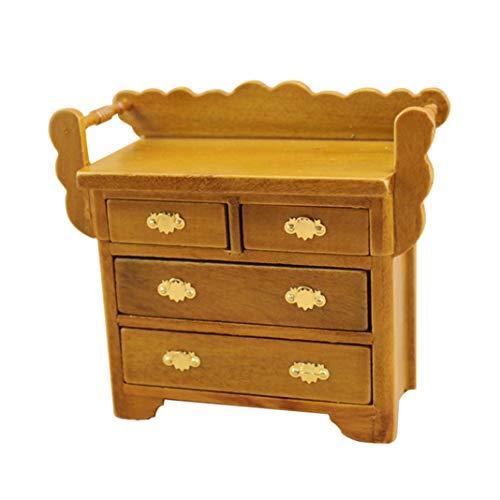 Accesorio para la casa de muñecas, mini gabinete de cajón 1/12 accesorios para muebles de casa de muñecas, juguete para niños