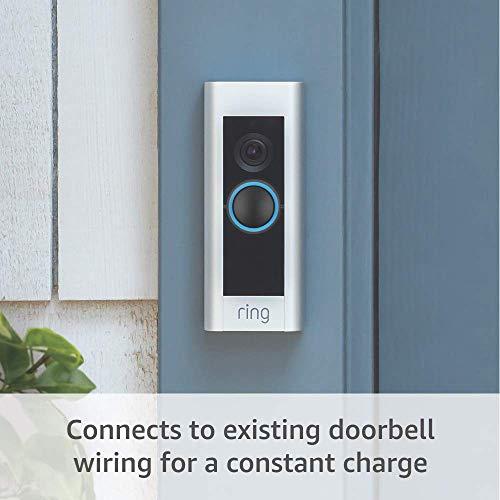 Certified Refurbished Ring Video Doorbell Pro with Certified Refurbished Echo Show 5 (Charcoal)