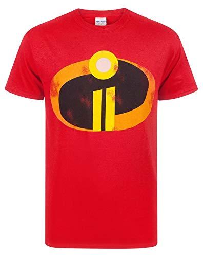 Gli Incredibili 2 Uomini Adulti Costume Rosso T-Shirt Top