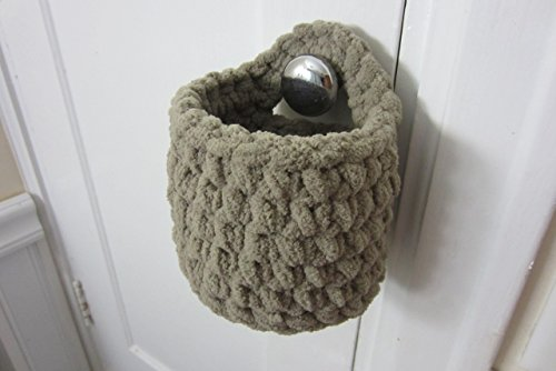 Small Hanging Basket, Crocheted Catch All Baskets - Many Color Choices!
