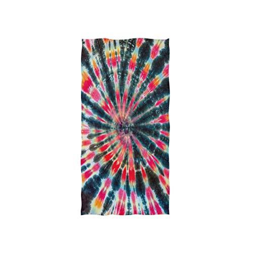 Toalla de Mano Colorido Tribal étnico Tie Dye Toalla Facial Absorbente Suave Hogar Cocina Baño Gimnasio Deportes SPA Piscina Toalla de Playa, 27.5x15.7in