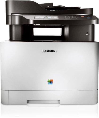 Samsung CLX-4195FW/TEG Farblaser-Multifunktionsgerät (Drucken, Scannen, Kopieren, Faxen, 9.600 x 600 dpi, 256 MB Speicher, 533 MHz Prozessor)