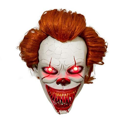 Neborn LED Horror Pennywise Joker Máscara Cosplay Stephen King It Capítulo Dos Payaso Máscaras de látex Casco Accesorios de Fiesta de Halloween