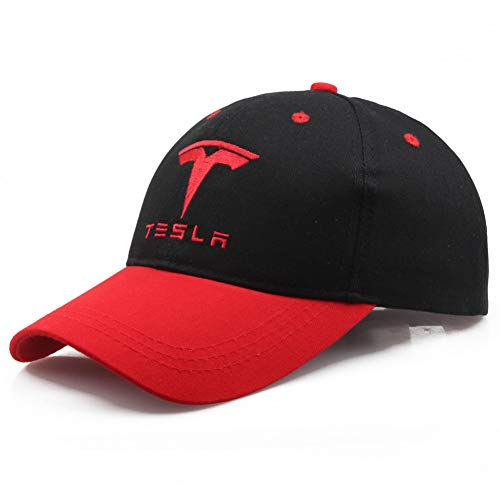 Gcbpwh Baseball Cap Herren Baseball Cap Tesla Auto Logo Stickerei Casual Snapback Hat Herren Rennmotorrad Sporthut
