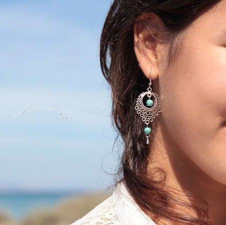 Las piedras preciosas retro Calaite hueco estilo étnico