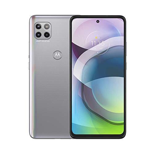 Motorola Moto G 5G | Unlocked | International GSM only | 6/128GB | MP Camera | 2020 | Frosted Silver, 166.1 x 76.1 x 9.9mm