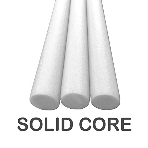 Oodles Solid Core Deluxe Foam Pool Swim Noodles 3 Pack 55 Inch - White