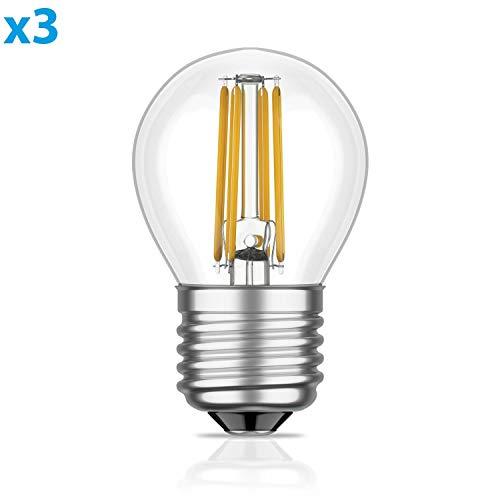 E14 LED Kerze mit Flamme Filament Vintage gold 4W =35W 380lm extra-warm-weiß für