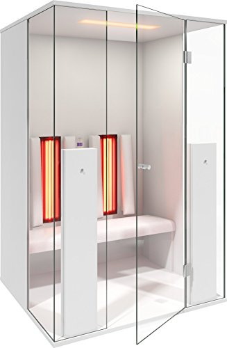 Infrarood cabine | Infrarood sauna Select Line 2 voor twee personen wit hoogglans van b-intense by Physiotherm - een aanbieding van welcon-wellness.de