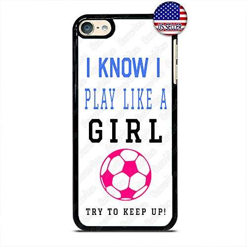 Play Like a Girl Soccer Phone Case Futbol Slim Shockproof Hard PC Custom Case Cover for iPod Touch 7 6 5