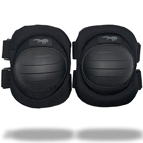 HAGOR Protective Elbow Pads Military Grade with Comfortable Gel Cushion, Strong Double Straps and Adjustable Easy-Fix Clips - for Shooting and Outdoors (Black)