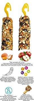 Aime Baguettes aux Fruits/Oeufs pour Grandes Perruches/Friandises pour Oiseaux/2 Baguettes Croustillantes/Gourmandes