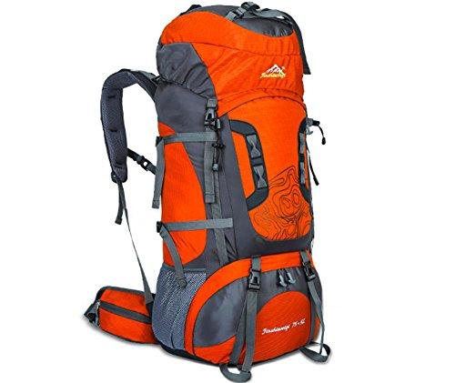 Nouveau sac d'alpinisme extérieur professionnel voyage cadre extérieur imperméable de sac à dos du sac à dos grande capacité , orange