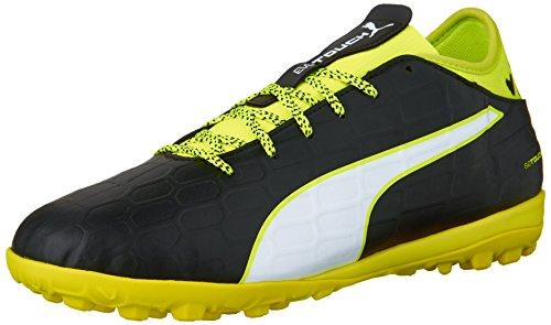 PUMA Scarpe da Uomo Evotouch 3 TT Soccer Shoe, Nero (Nero, Bianco, Giallo, Grigio.), 45 EU