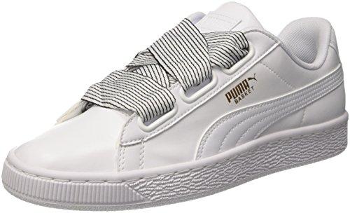 Puma Basket Heart Wn's, Scarpe da Ginnastica Basse Donna, Bianco White White, 39 EU