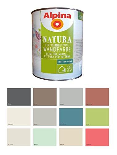 Alpina 2,5 L Natura Wandfarbe Silikat Mineralfarbe Wildrose, Pink Matt