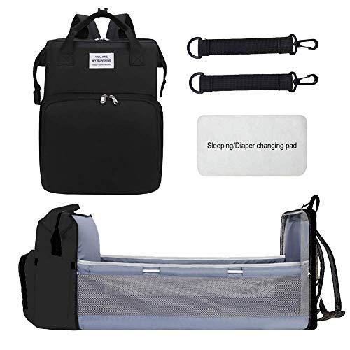 MySixKeen Bolsa Plegable portátil para Cuna de bebé, Mochila Multifuncional, Bolsa de Gran Capacidad para Madre y bebé, Mochila