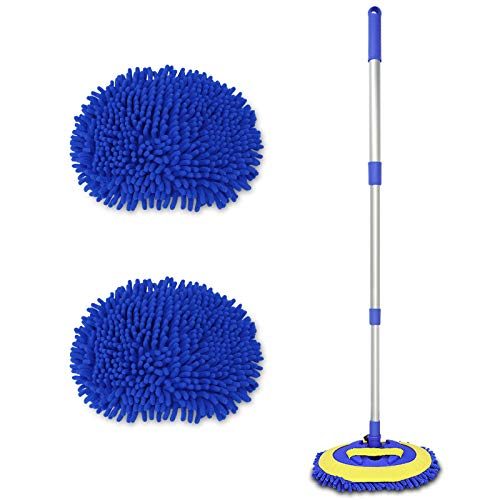 2 in 1 Chenille Microfiber Car Wash Brush Mop Mitt