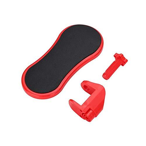 MNSSRN Drehbare Handschutz, Computer-Schreibtisch, Büro Pad, Ellenbogen-Schutz, Lange Brett, Desktop-Handgelenkstütze, Armstütze, Armauflage,Rot