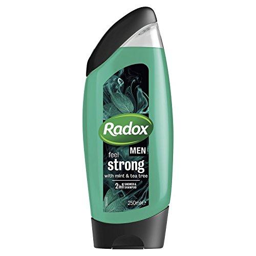 Radox Men Feel Strong Mint & Tea Tree 2in1 Shower Gel 250ml, Pack of 6