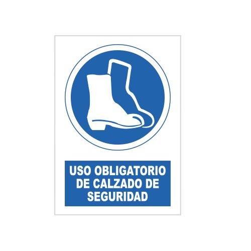 S21 Señalización SOR1055.G Señal uso obligatorio de calzado de seguridad, Multicolor
