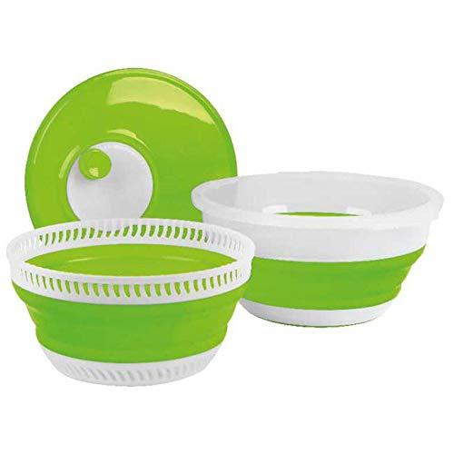 Camp4 - Centrifuga pieghevole per insalata, colore: Lime/Bianco