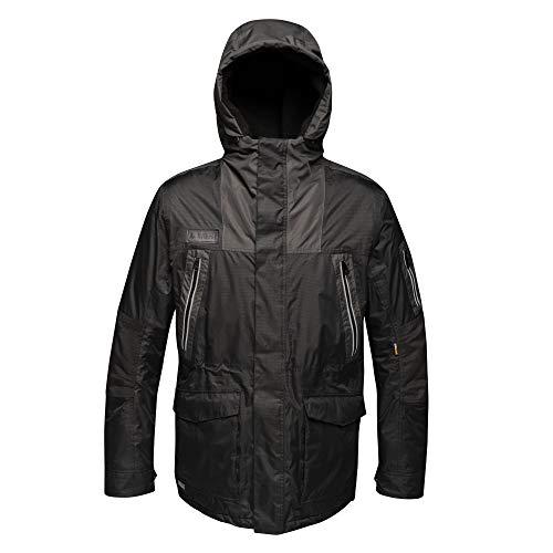 Regatta Veste Homme Tactical Threads Imperméable, Isolante et résistante Martial Jackets Waterproof Insulated Homme Black/Ash FR: 3XL (Taille Fabricant: XXXL)
