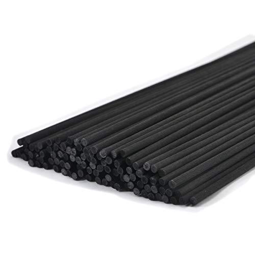 100本入アロマファイバーディフューザー交換用スティック(30cm*3mm,黒)