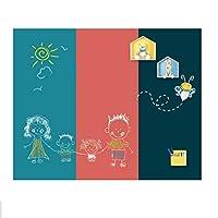 二重層磁性壁ステッカー描画板落書き書き直され、ホーム子供の部屋のための粉塵のない描画板 (Color : Style F 60cmx90cm)