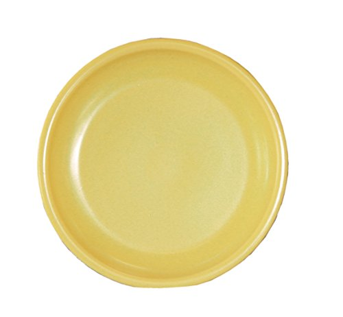 Hentke keramische onderzetters voor bloempot/plantenpot, vorstbestendig, Ø 18 x 4 cm, oppervlak 13 cm, 099.018.61 geel geglazuurd Made in Germany