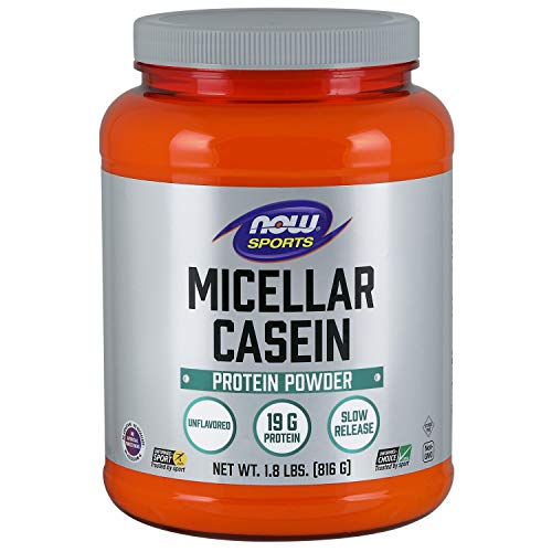 Now Foods Sports Nutrition Micellar Casein 19 G, Natural Unflavored, 28.8 Oz