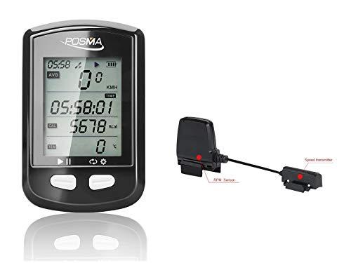 POSMA Bluetooth Ant+ Dual Mode DB2 GPS Bicicleta Ciclismo Ordenador BCB30 Speed...