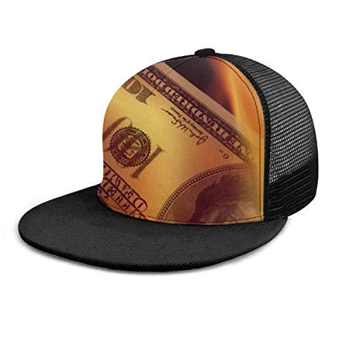 Baseball Cap Fire Hundert Geld brennender Dollarschein Unisex Hip Hop Snapback Hat