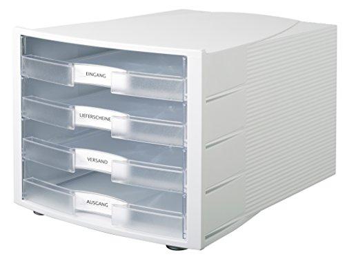Preisvergleich Produktbild HAN Schreibtisch-Schubladenbox IMPULS Stapelbare Sortierablage mit 4 großen Schubladen für DIN A4 / C4 inkl. Beschriftungsschilder 29,4 x 36,8 x 23