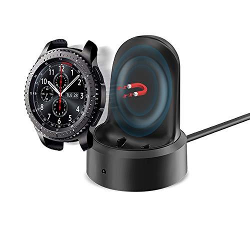 KIMILAR Cargador Compatible con Samsung Galaxy Watch 46mm / 42mm / Gear S3 Cable, Base de Carga USB Repuesto Cargador para Galaxy Watch 42mm/46mm/Gear S3 Smartwatch