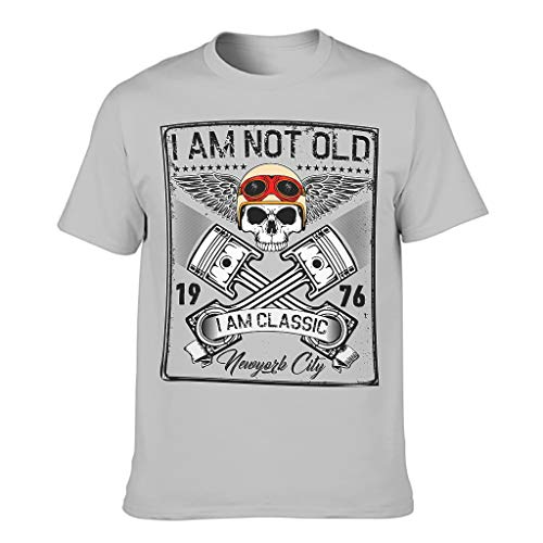 Harberry Camiseta de algodón clásica con texto en inglés 'I Am Not Old I Am Classic'