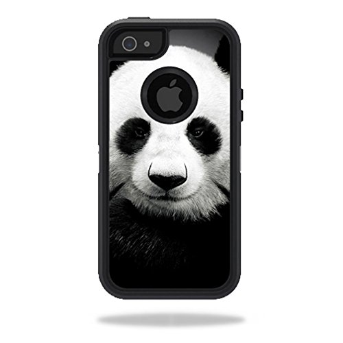MightySkins Skin Compatible with OtterBox Defender iPhone 5s case - Panda | Protective, Durable, and Unique Vinyl Decal wrap Cover | Easy to Apply, Remove, and Change Styles | Made in The USA