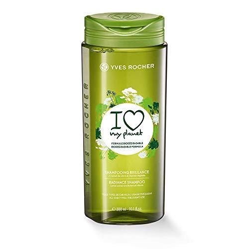 Yves Rocher I LOVE MY PLANET Glanz-Shampoo, mit Zitronen-Extrakt, Haarshampoo für Geschmeidigkeit & Glanz, 1 x Flacon 300 ml
