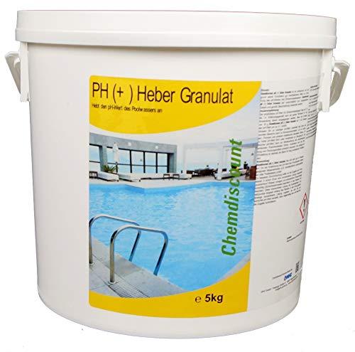 Chemdiscount 5kg pH Plus Granulat pH Heber fest ph