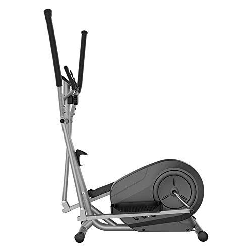 YIZHIYA Elípticas de Fitness,Máquina de Entrenamiento elíptica Ajustable multifunción de 8 Niveles,Gimnasio pequeño portátil Ultra silencioso Equipo de Fitness,Negro