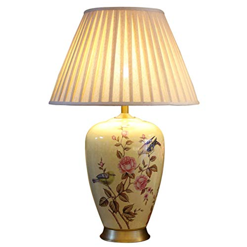 AI LI WEI mooie lampen/tafellamp van keramiek, beschilderd met bloemen en vogels, stijl: woonkamer, slaapkamer, nachtlampje, villa, hoeklampen (afmetingen: 50 x 78 cm) L50*78 cm