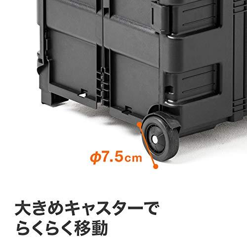 サンワダイレクト折りたたみキャリーカート簡単組み立て43リットル100-CART009